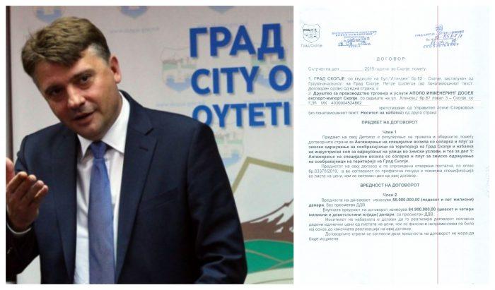 """""""Економски лидер"""": Шилегов склучил договор со фирма за чистење снег """"тежок"""" 65 милиони денари"""