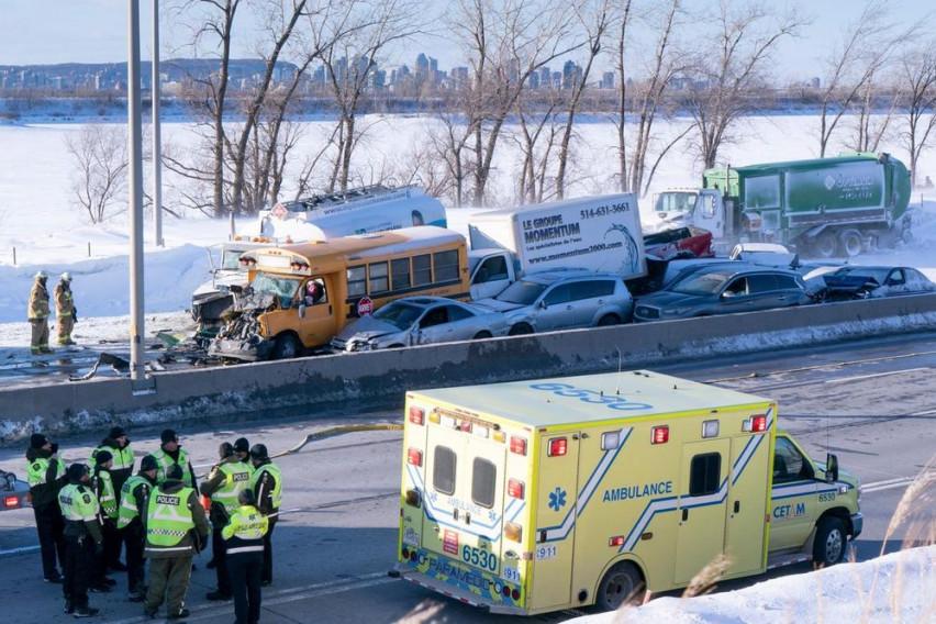 Канада: Масивен верижен судир, над 70 лица повредени (Видео)