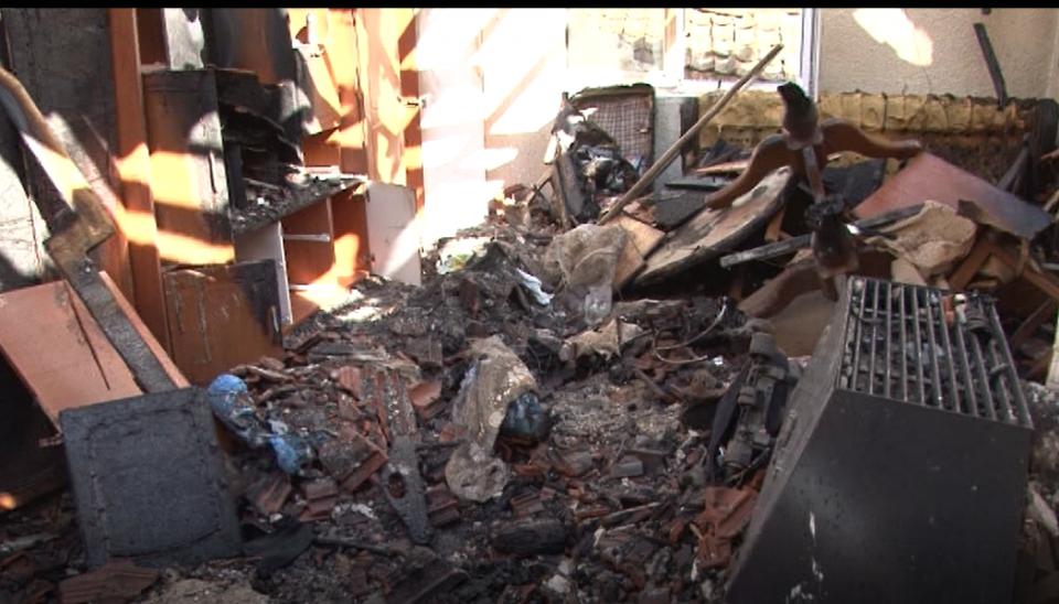 Огнена стихија го остави семејството Димоски без покрив над главата