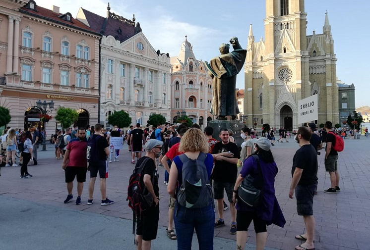 Антивладин протест вечерва и во Нови Сад